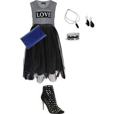 tamikas girls night look remixed by kristie-payne on Polyvore featuring Carmakoma, Boohoo, Nina, Noee, GUESS and MANGO