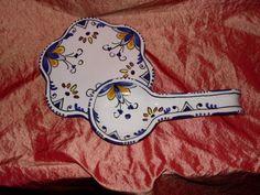 Idea per la propria cucina poggiamestolo e sottopentola – decoro geometrico – blu