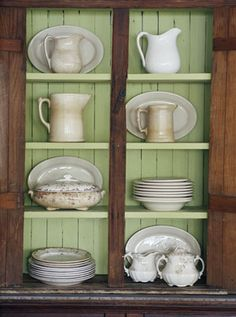 Vintage Wood Cabinets on Country Home Website