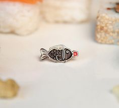 Sushi Salsa de soja pescado esmalte pin pin salsa por TingsByUs