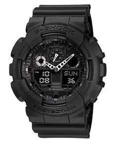 G-Shock Watch, Men's Black Resin Strap GA100-1A1 - Watches - Jewelry & Watches - Macy's