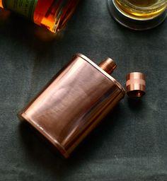Handmade Copper Flask (Screw top) - #KaufmannMercantile