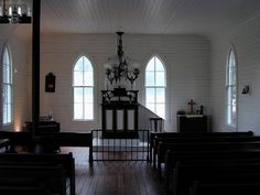 1891 St. John Church interior by houston heritage society, via Flickr