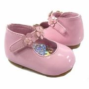 Pink Flowers Infant Baby Maryjane Shoes