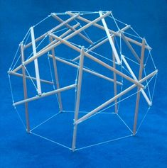 Tensegrity Sphere (deresonated geodesic) by Pars