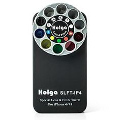 ThinkGeek :: Holga iPhone Lens Filter Kit