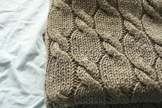 Ravelry: Project Gallery for Cabled Cradle Spread pattern by Anna & Heidi Pickles