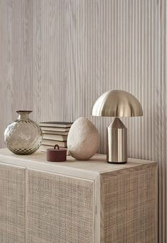 Currently Coveting: The Atollo Lamp – iconic atollo lamp, metal finish Atollo Lamp, Minimalism Living, Interior Styling, Interior Decorating, Color Interior, Muebles Living, World Of Interiors, Traditional Decor, Home Decor Trends