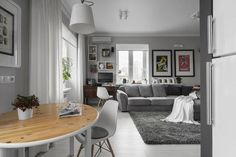 white and gray color tones for decorating small spaces in scandinavian style