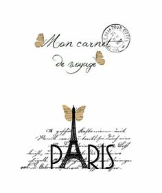Free printable Paris Shabby Chic notebook cover
