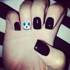 Halloween/day of the dead nails