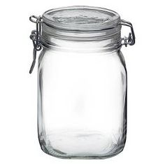 Bormioli Rocco's Fido jars are crafted out of Italian glass. The Fido jar is perfect for storing pasta, rice, and other dry foods. With the rubber gasket to keep food fresh and the metal clamp for easy use, these jars are essential in any kitchen. The Fido jars are available in a variety of sizes-perfect for any type of food storage!