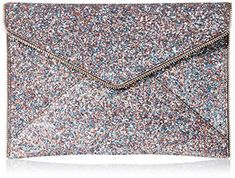 Rebecca Minkoff Multi Glitter Leo Envelope Clutch, Pink/Multi, One Size * Check out this great image @ Trendy Handbags, Best Handbags, Fashion Handbags, Clutch Handbags, Pink Clutch, Envelope Clutch, Working Woman, Wow Products, Rebecca Minkoff