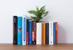 he Book Vase by YOY Design Studio - a house planter camouflaged as a book.the vase can be opened up to reveal the dirt inside and when closed can be inserted amongst the rest of your books to save desk space. Flower Vase Design, Flower Vases, Flower Pots, Design Studio, Crate Bookshelf, Bookshelves, Wooden Crates Planters, Old Encyclopedias, Tree Grows In Brooklyn