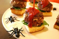 Halloween Party Appetizer - Maggot Sliders by jakeludington, via Flickr