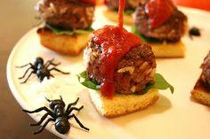 Halloween Party Appetizer - Maggot Sliders by jakeludington, via Flickr