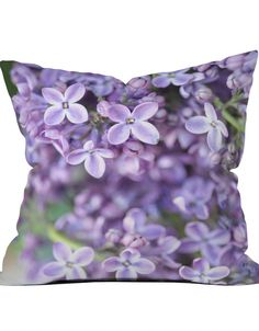 Lilacs in Focus Throw Pillow Cover