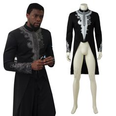 Black Panther Outfit Collection the black panther king tchalla embroidered royal coat in Black Panther Outfit. Here is Black Panther Outfit Collection for you. African Dresses Men, African Attire For Men, African Clothing For Men, African Shirts, African Wear, Royal Clothing, African Style, Nigerian Men Fashion, African Men Fashion