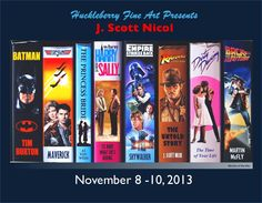 Scott Nicol is going to be here November stop by and chat with us while enjoying some beer and pigs-in-a-blanket :) Tim Story, November 8, Top Gun, Huckleberry, Pigs, Batman, Beer, Events, Fine Art