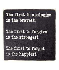 Another great find on #zulily! 'The One to Apologize First...' Wall Sign by Sara's Signs #zulilyfinds