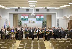 Fazekas Sándor földművelésügyi miniszter a kitüntetettek körében