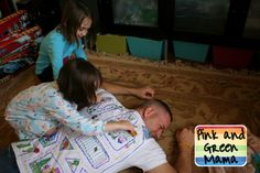 Make dad a t-shirt with roads so kids will give him a covert back rub with their matchbox cars!