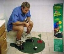 Because everyone wants to play golf on the toilet