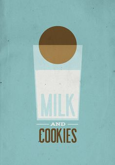 Milk and Cookies 13 x 19 Vintage Poster  by twenty21onecreative,