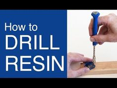 Easy way to drill holes in Resin - by Little Windows - YouTube