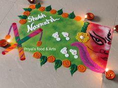 Rangoli Designs Diwali, Simple Rangoli, Festival Rangoli, Navratri Special, Beautiful Rangoli Designs, Food Art, Art Drawings, Decoration, Decor