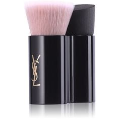 Yves Saint Laurent Beauty Women's Top Secrets Satin Glow Brush (2,030 MKD) ❤ liked on Polyvore featuring beauty products, makeup, makeup tools, makeup brushes, beauty, no color and yves saint laurent