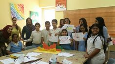 Our Al Noor workshop working with children with SEN (special educational needs). The group were looking at foreground, middle ground and background by building 3d landscapes. At START we seek to educate, empower and engage each child with their peers, communities and teach them a sense of self worth all through the medium of art.