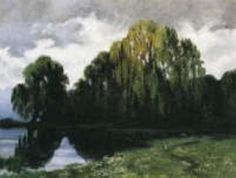 Walter Leistikow, Waldsee, 1900-1906, Auktion 831 Moderne Kunst 4. Dez. 2002, Lot 856 Modern Art, Painting, Auction, Woodland Forest, Painting Art, Paintings, Contemporary Art, Painted Canvas, Drawings
