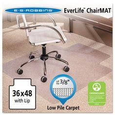 """ES Robbins Multi-Task AnchorBar Carpet Chair Mat - 36"""" x 48"""""""