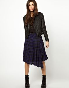 #FreePeople full skirt in plaid