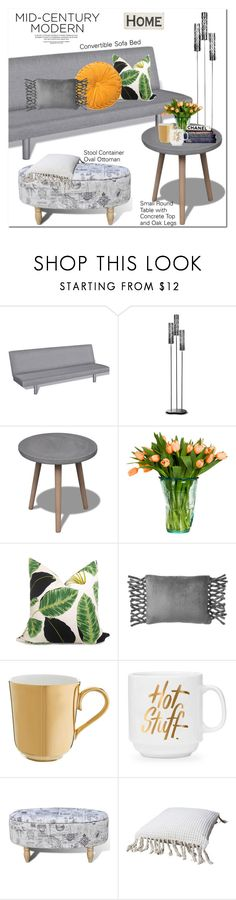 """Mid-Century Modern"" by oshint ❤ liked on Polyvore featuring interior, interiors, interior design, home, home decor, interior decorating, PBteen, Richard Brendon, Primitives By Kathy and modern"
