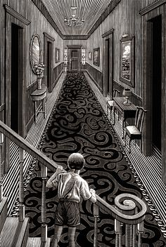 Stunning Illustrations on Scratchboard – Fubiz Media Artist Douglas Smith made a stunning monochromatic illustration series entitled Thrillers and that could be like engraving. In fact the illustrator used scratch Art And Illustration, Black And White Illustration, Ink Illustrations, Engraving Illustration, Arte Horror, Horror Art, Art Sinistre, Ink Art, Art Scratchboard