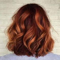 "- Stones Hair And Beauty (@stones_hair_and_beauty) on Instagram: ""Copper tigers eye love ♥️ #tigerseye #haircolour #copper #curls #love #hairstyle #bob #flawless…"""