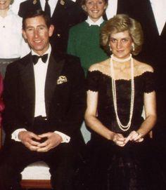 November 6, 1987:  Prince Charles & Princess Diana in Hamburg, West Germany.