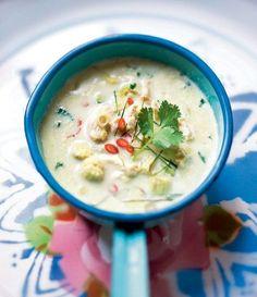 Soupe thaïe au poulet et lait de coco de Jim