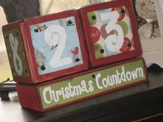 I love this idea, however I think it would be even better to use chalk paint where Christmas Countdown is and leave it out all year for whatever event you want to count down.  I'd like to have one in my kitchen sink window.