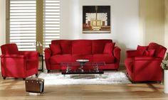 Red Living Room Sets Small Ideas With Dark Furniture 21 Best Images Den Decor Dining Sofa Set Perfect Setting White Walls Http