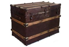 images of antique trunks | Antique Trunk with Natural Rust Patina