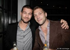 Andy Whitfield and Jai Courtney