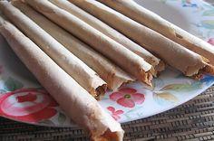 Ledre, a kind of banana crispy rolled crepes from Bojonegoro (East Java)