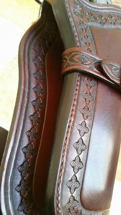Gun Holster, Leather Holster, Leather Tooling, Western Holsters, Cowboy Action Shooting, Leather Working Patterns, Leather Projects, Leather Crafts, Leather Carving