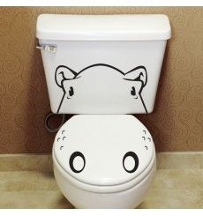 This hilarious toilet sticker. 19 Adorable Things You Need If You Love Hippos Stickers Wc, Hippopotamus For Christmas, Baby Hippopotamus, Baby Animals, Cute Animals, Cute Hippo, Bathroom Kids, Bathrooms, Bathroom Decals
