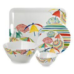 Stripes on the Strand Dinnerware Collection - BedBathandBeyond.com