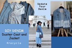 update your denim with DIY denim duster coat and jacket