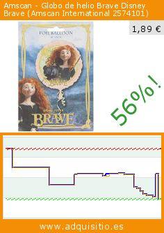 Amscan - Globo de helio Brave Disney Brave (Amscan International 2574101) (Juguete). Baja 56%! Precio actual 1,89 €, el precio anterior fue de 4,34 €. https://www.adquisitio.es/amscan/globo-helio-brave-disney